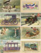 Ansichtskarten,Glueckwunsch,sonstigeGlückwunsch Partie mit über 300 Ansichtskarten meist 1900 - 1930