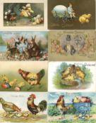 Ansichtskarten,Glueckwunsch,OsternOstern Album mit circa 240 Ansichtskarten dabei sehr schöne