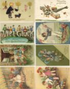 Ansichtskarten,Glueckwunsch,sonstigeGlückwunsch Partie mit über 40 Ansichtskarten teils geprägt I-