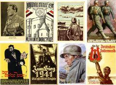 III. Reich Propaganda,sonstige Karten,III.REICH WK II - POSTEN von 55 NS-Propagandakarten, dabei