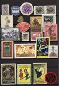 Reklame/Werbung,Marken,sonstigeVignetten Album mit circa 1200 St. I-II