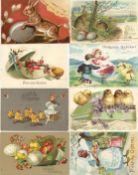 Ansichtskarten,Glueckwunsch,OsternOstern Album mit circa 350 Ansichtskarten dabei sehr schöne