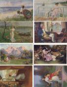 Kunst u. Kultur,Berühmte Maler,sonstigeKünstler Partie von über 900 Ansichtskarten I-II
