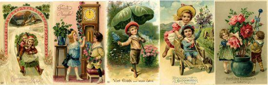 Ansichtskarten,Glueckwunsch,KinderKinder Partie mit über 100 Prägelithos ca. 1900 -1915 sehr schönes