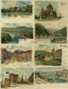 Ansichtskarten,Sonderkarten,Halt gegen LichtHalt gegen Licht Partie von circa 40 Ansichtskarten I-