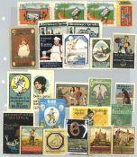 Reklame/Werbung,Marken,sonstigeVignette Steckalbum mit über 550 Stück I-II