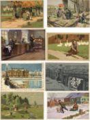 Kunst u. Kultur,Berühmte Maler,Paul HeyHey, Paul Partie mit circa 270 Künstler-Karten dabei auch