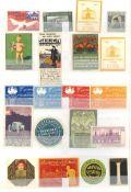 Reklame/Werbung,Marken,sonstigeVignetten Album mit circa 1000 St. I-II