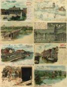 Ansichtskarten,Sonderkarten,Halt gegen LichtHalt gegen Licht Partie von über 40 Ansichtskarten I-II