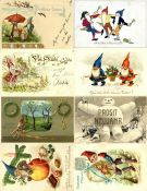 Ansichtskarten,Glueckwunsch,ZwergeZwerg Partie mit über 30 Ansichtskarten I-II