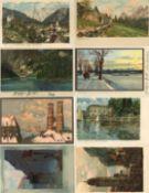 Kunst u. Kultur,Berühmte Maler,sonstigeDiemer, Zeno Partie von circa 100 Ansichtskarten I-II