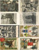 Militaer,WK I,sonstigeWK I Partie von circa 120 Ansichtskarten unterschiedliche Erhaltungen