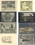 Ansichtskarten,AK-Kuenstler,FidusFidus Partie mit über 30 Künstler-Karten I-II