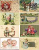 Ansichtskarten,Glueckwunsch,KinderKinder Partie mit circa 110 Ansichtskarten ca. 1900 -1915 sehr