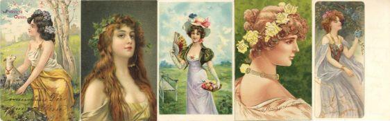 Ansichtskarten,Sonderkarten,sonstigeFrauen Album mit circa 210 Künstler-Karten dabei sehr schöne