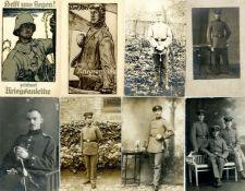 Militaer,WK I,sonstigeWK I viele Uniformen Partie von circa 170 Ansichtskarten I-II