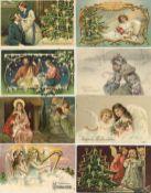 Ansichtskarten,Glueckwunsch,WeihnachtenWeihnachten Partie mit circa 180 Ansichtskarten meist vor