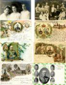 Geschichte,Deutscher Adel,SachsenAdel Sachsen Partie mit über 60 Ansichtskarten dabei viele Lithos
