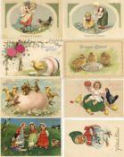 Ansichtskarten,Glueckwunsch,OsternOstern Partie mit circa 90 Ansichtskarten I-II
