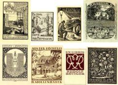 Kunst u. Kultur,Berühmte Maler,sonstigeEx Libris Partie mit circa 100 Stück I-II