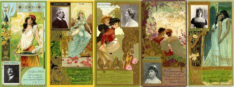 Reklame/WerbungWerbung Lefevre Utile Partie mit über 60 Sammelbilder/ Kaufmannsbilder um 1900