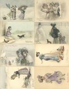 Kunst u. Kultur,Kunstverlage,sonstigeVerlag MM Vienne Partie mit über 50 Künstler-Karten I-II- - -