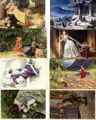 Kunst u. Kultur,Berühmte Maler,sonstigeKünstler Partie mit über 1000 Künstlerkarten I-II- - -23.80 %