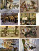 Kunst u. Kultur,Berühmte Maler,Paul HeyHey, Paul Partie mit über 60 Künstler-Karten I-II- - -23.80 %
