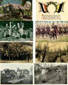Militaer,WK I,sonstigeWK I Partie mit über 200 Ansichtskarten I-II- - -23.80 % buyer's premium on