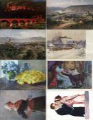 Kunst u. Kultur,Berühmte Maler,sonstigeKünstler Partie von circa 1000 Ansichtskarten I-II- - -23.