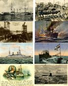 Schiffahrt, MilitärischMarine Partie mit über 1600 Ansichtskarten meist deutsche Marine WK I und