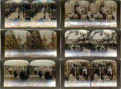 Ansichtskarten,Sonderkarten,sonstigeStereofotos Partie mit über 70 Stück in Buchattrappenkarton I-II