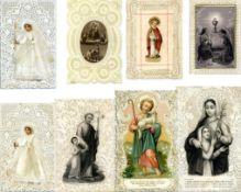Religion,Christliche,HeiligeHEILIGENBILDCHEN Schachtel mit mehreren hundert Stück ab circa 1850