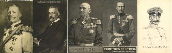 Militaer,WK I,sonstigeWK I berühmte Persönlichkeiten und Generäle Partie mit über 50