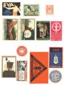 Reklame/Werbung,Marken,sonstigeVignette und Siegelmarken circa 500 im Album Anteil Vignetten ca. 350