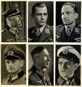III. Reich Propaganda,Ritterkreuztraeger,Ritterkreuzträger Partie von 54 Ansichtskarten I-II- - -