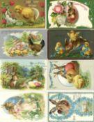 Ansichtskarten,Glueckwunsch,OsternOstern 2 Alben mit circa 300 Ansichtskarten, oft geprägt I-