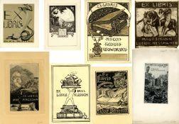 Kunst u. Kultur,Berühmte Maler,sonstigeEXLIBRIS Sammlung von circa 350 bis 400 Stück I-II- - -23.