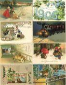 Ansichtskarten,Glueckwunsch,sonstigeGlückwunsch Album mit circa 200 Ansichtskarten, darunter auch