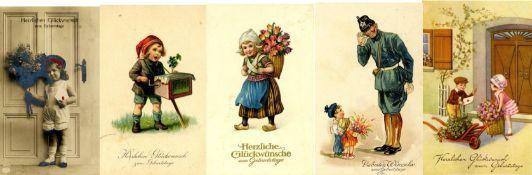 Ansichtskarten,Glueckwunsch,sonstigeGlückwunsch Album mit circa 100 Ansichtskarten vor 1945 dabei