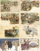 Ansichtskarten,AK-Kuenstler,A. Thiele (allgemein)Thiele, Arthur Partie von über 170 Ansichtskarten