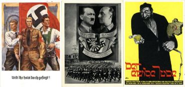 III. Reich Propaganda,sonstige Karten,Propaganda WK II Lot mit 15 Ansichtskarten I-II- - -23.80 %