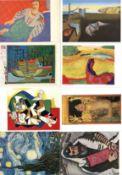 Kunst u. Kultur,Berühmte Maler,sonstigeKünstler-Karten alte Meister auf modernen Karten nach 1945