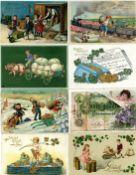 Ansichtskarten,Ansichtskarten Geschichte,Geld auf AKGeld Lot mit 26 Ansichtskarten vor 1945 meist