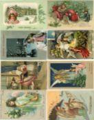 Ansichtskarten,Glueckwunsch,WeihnachtenWeihnachten Album mit circa 380 Ansichtskarten dabei sehr