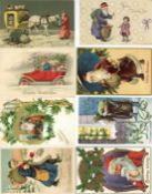 Ansichtskarten,Glueckwunsch,WeihnachtsmaennerWeihnachtsmann Album mit über 170 Ansichtskarten
