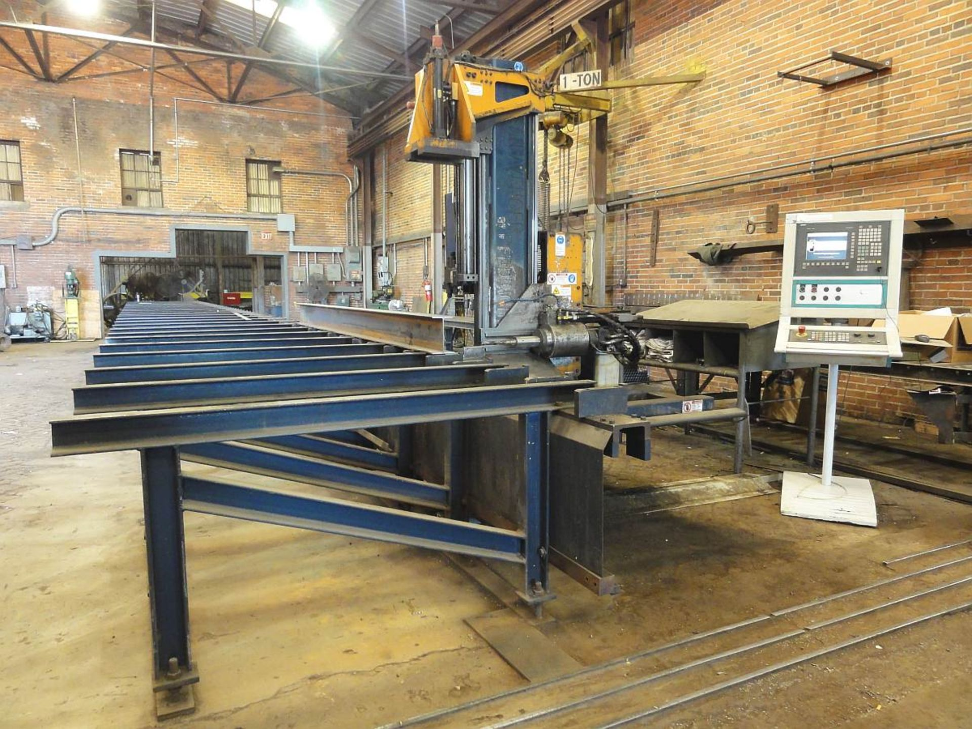 "Lot 259 - Peddinghaus Ocean Avenger CNC Beam/Drill Line, Mdl 1000B, 40"" x 60', Max X & Y Axis Speed 118, 13."
