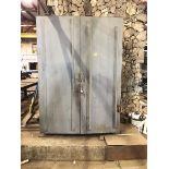 Lot 257 - Metal Cabinet & Contents