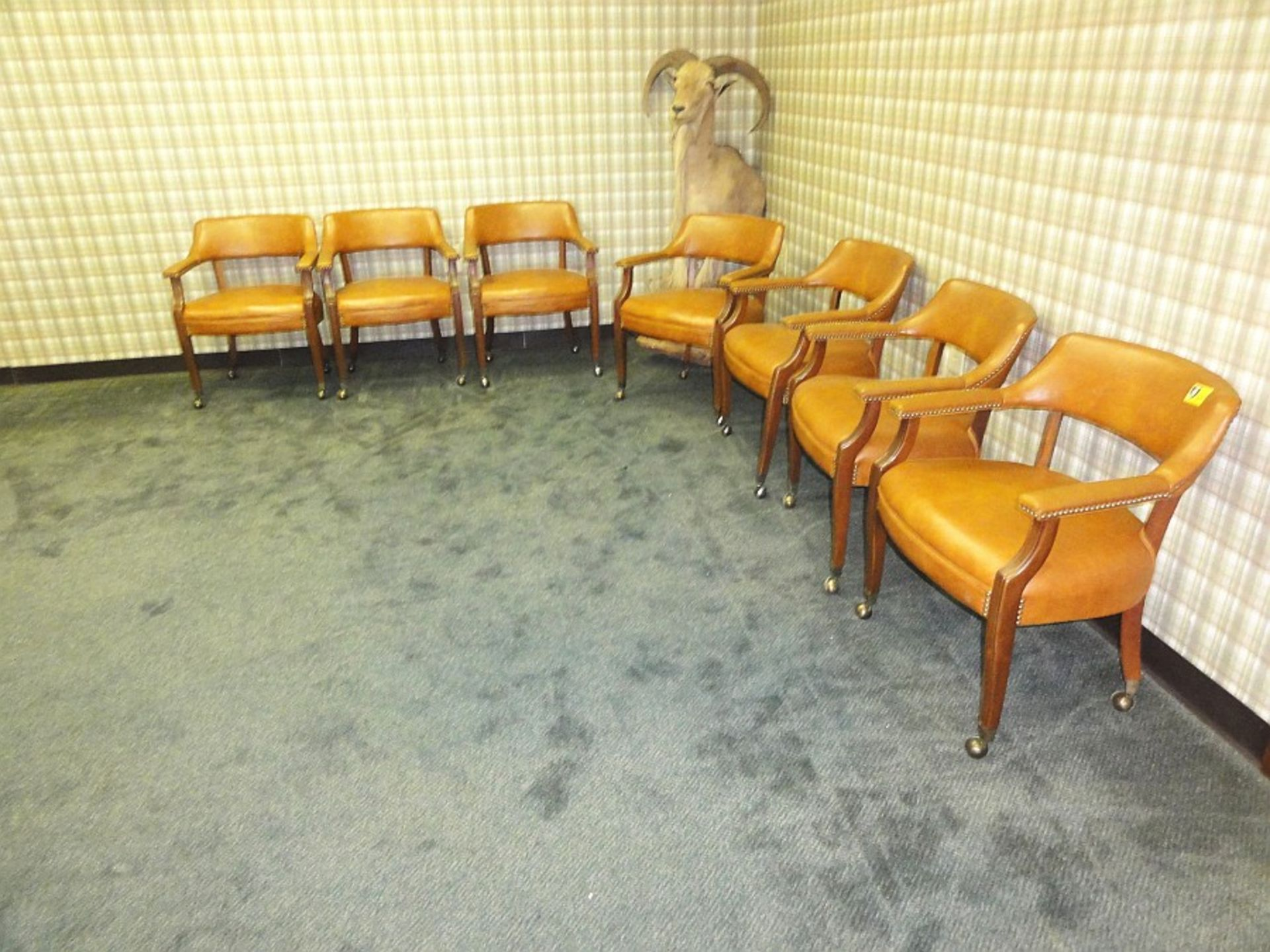Lot 633 - Upholstered Rolling Chairs