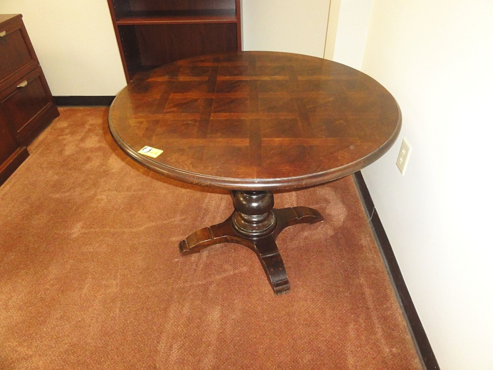 Lot 646 - Round Wooden Conference Table